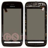 Тачскрин Nokia 603 в сборе (черный) ОРИГИНАЛ 100%