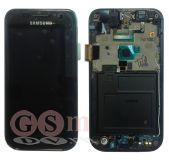 Дисплей Samsung i9003 Galaxy S модуль в сборе (GH97-11829A) (снятый, потертости, царапины) (черный) ОРИГИНАЛ 100%