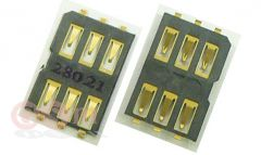 Коннектор SIM Nokia N9/X3-02/C3-01/C5-03